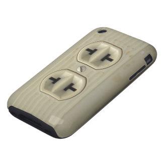 Caso del iPhone 3G del enchufe de pared del vintag Tough iPhone 3 Carcasa