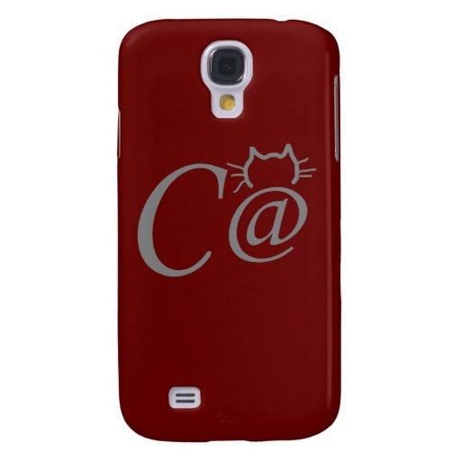 Caso del iPhone 3G del gato del símbolo del texto Funda Para Galaxy S4