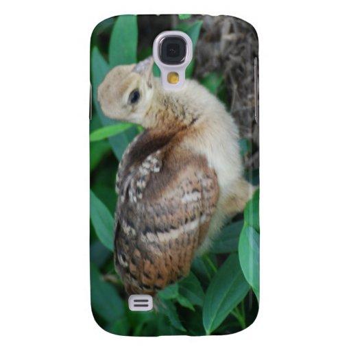 Caso del iPhone 3G del polluelo del pavo real del