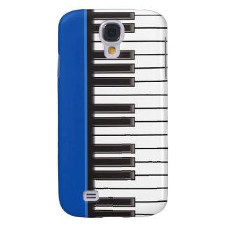 caso del iPhone 3G - llaves del piano en azul Funda Para Galaxy S4