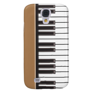 caso del iPhone 3G - llaves del piano en Brown Funda Para Galaxy S4