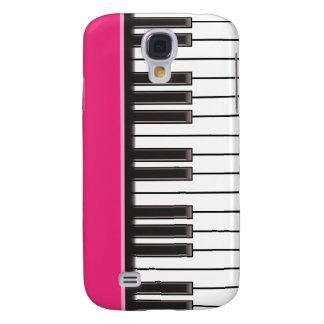 caso del iPhone 3G - llaves del piano en Fuschia Funda Para Galaxy S4
