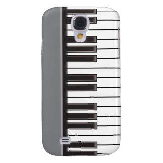 caso del iPhone 3G - llaves del piano en gris Funda Para Galaxy S4