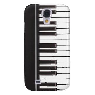 caso del iPhone 3G - llaves del piano en negro Funda Para Galaxy S4