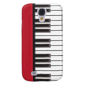 caso del iPhone 3G - llaves del piano en rojo Funda Para Galaxy S4