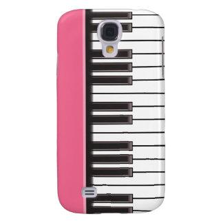 caso del iPhone 3G - llaves del piano en rosa Funda Para Galaxy S4