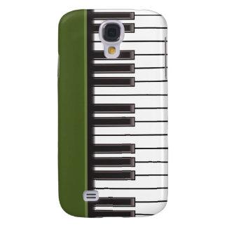 caso del iPhone 3G - llaves del piano en verde Funda Para Galaxy S4