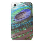 Caso del iPhone 3gs de la pluma del pavo real Case-Mate iPhone 3 Cárcasa