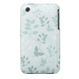 Caso del iPhone 3gs de las mariposas y de los remo iPhone 3 Case-Mate Coberturas