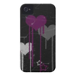Caso del iPhone 4 4s Barely There de los corazones iPhone 4 Case-Mate Protector