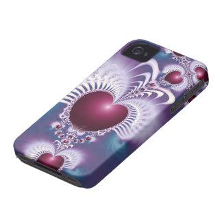 Caso del iPhone 4 4S Barely There de los corazones iPhone 4 Funda