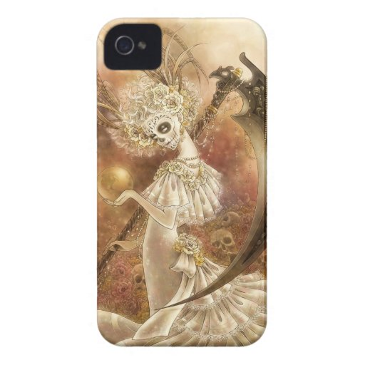 Caso del iPhone 4/4S Barely There de Santa Muerte Case-Mate iPhone 4 Cobertura
