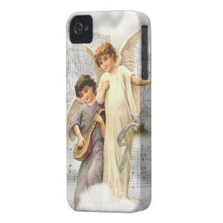 Caso del iPhone 4 4S BT de los ángeles del navidad iPhone 4 Case-Mate Coberturas