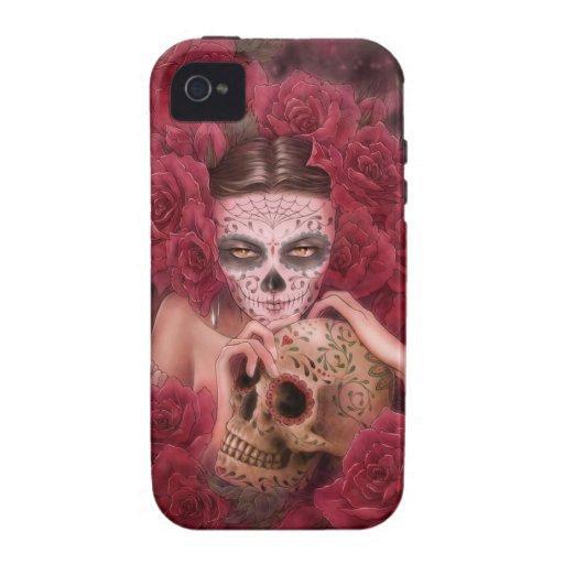 Caso del iPhone 4/4S de Dia de los Muertos Carcasa Vibe iPhone 4