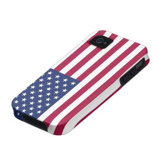 Caso del iPhone 4 4S de la bandera americana iPhone 4 Carcasa