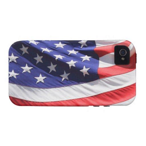 Caso del iPhone 4/4S de la bandera americana iPhone 4/4S Fundas