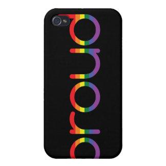 Caso del iPhone 4/4S de la bandera del orgullo gay iPhone 4 Fundas