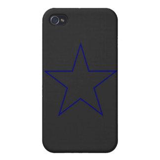 Caso del iPhone 4 4s de la estrella azul