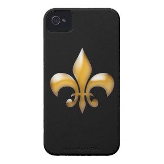 Caso del iPhone 4/4S de la flor de lis del oro Case-Mate iPhone 4 Cárcasas