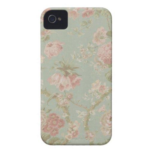 Caso del iPhone 4/4s de la impresión floral del iPhone 4 Case-Mate Protectores