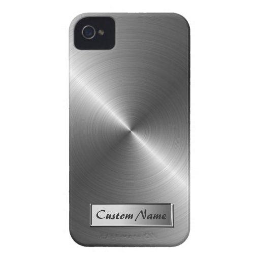 Caso del iPhone 4/4S de la mirada del metal del ac iPhone 4 Protector