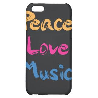 Caso del iPhone 4/4S de la música del amor de la p
