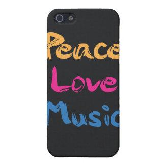 Caso del iPhone 4/4S de la música del amor de la p iPhone 5 Carcasa