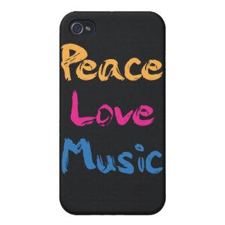 Caso del iPhone 4/4S de la música del amor de la p iPhone 4 Cárcasa