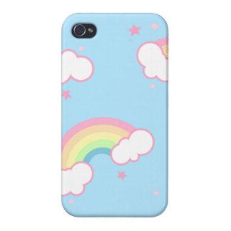 Caso del iPhone 4/4S de la nube del arco iris iPhone 4/4S Funda