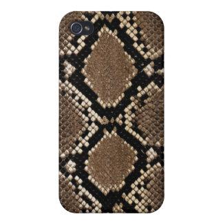 Caso del iPhone 4/4S de la piel de serpiente iPhone 4/4S Fundas