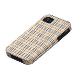 Caso del iPhone 4/4S de la tela escocesa iPhone 4/4S Carcasa