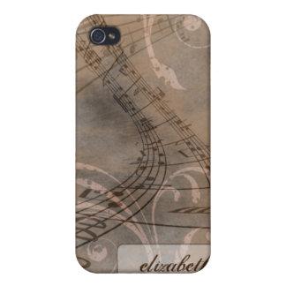 Caso del iPhone 4/4s de las notas de la música del iPhone 4 Cobertura