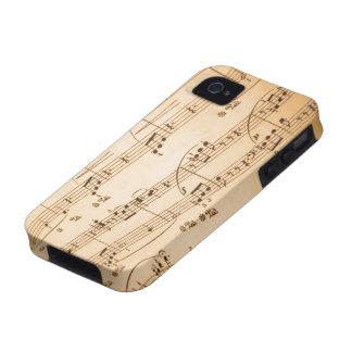 Caso del iPhone 4/4S de las notas musicales Case-Mate iPhone 4 Funda