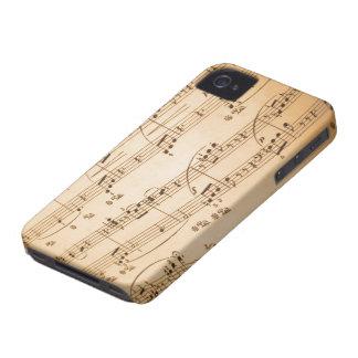 Caso del iPhone 4/4S de las notas musicales iPhone 4 Cárcasas
