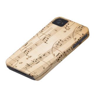 Caso del iPhone 4/4S de las notas musicales iPhone 4 Coberturas