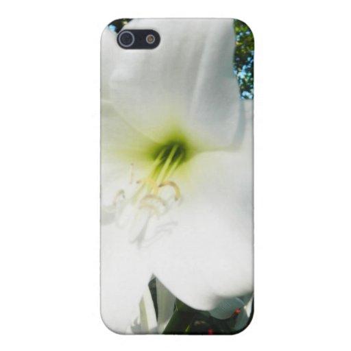 Caso del iPhone 4/4s de los lirios blancos iPhone 5 Carcasas
