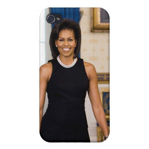 Caso del iPhone 4/4S de Michelle Obama iPhone 4 Carcasa