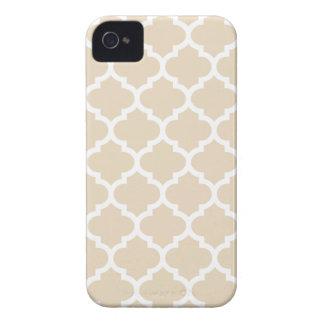 Caso del iPhone 4 4S de Quatrefoil en marfil iPhone 4 Case-Mate Cárcasa