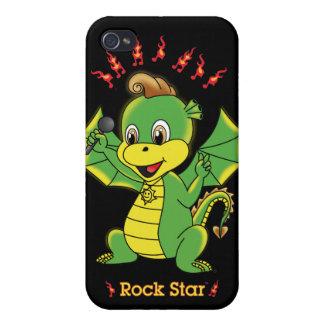Caso del iPhone 4 4S de Rockstar™ del dragón iPhone 4 Carcasa