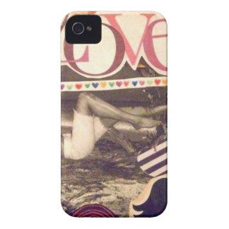 Caso del iPhone 4/4S del AMOR del vintage iPhone 4 Case-Mate Cárcasa