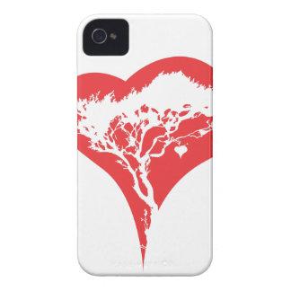 Caso del iPhone 4 4S del árbol del corazón Case-Mate iPhone 4 Cárcasas