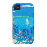 Caso del iPhone 4/4S del arte: Azul de Scilly Vibe iPhone 4 Carcasa