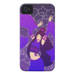 Caso del iPhone 4/4S del arte del kimono del baila iPhone 4 Carcasa
