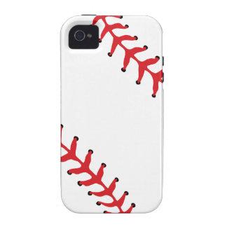 Caso del iPhone 4/4S del béisbol/del softball Case-Mate iPhone 4 Fundas