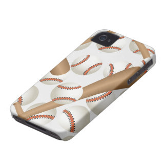 Caso del iPhone 4/4S del béisbol Case-Mate iPhone 4 Cárcasas