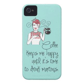 Caso del iPhone 4/4S del café y de los martinis iPhone 4 Funda