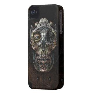 Caso del iPhone 4 4s del cráneo de Steampunk iPhone 4 Funda