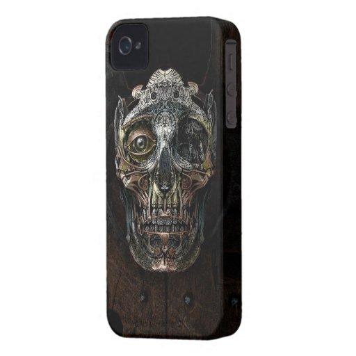 Caso del iPhone 4/4s del cráneo de Steampunk iPhone 4 Funda