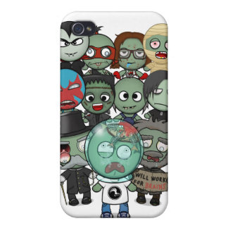 Caso del iPhone 4/4S del desfile del zombi iPhone 4 Fundas