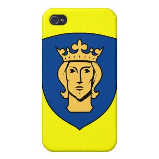 Caso del iPhone 4/4s del escudo de Suecia - de iPhone 4/4S Fundas